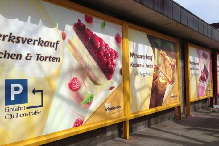Werbeschilder für Großläche